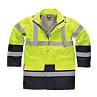 New Dickies Mens Heavy Duty Waterproof Hi-viz Two-tone Parka Jackets Size M-3XL