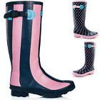 NEW WOMENS WYRE VALLEY WELLIES WELLINGTON BOOTS SZ 3-8