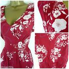 WHITE STUFF LOTTIE DRESS SUMMER FLORAL TEA DRESS RED WHITE SIZE 8 10 12 14 16 18