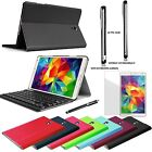Bluetooth Keyboard Slim Leather Cover Case Stylus for Samsung Galaxy Tab S 8.4