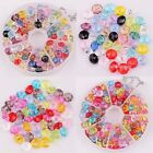 Assorted Color 80/100pcs Faceted Acrylic Rondelle Loose Spacer Beads 8/6mm