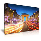 CITYSCAPE Europe France 1 Canvas Framed Printed Wall Art - More Size