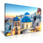 CITYSCAPE Greece 1 Canvas Framed Printed Wall Art - More Size