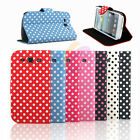 Polka Dots Leather Flip Pouch Stand Case Cover For Samsung Galaxy S3 III i9300