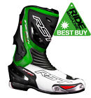 RST TRACTECH EVO CE APPROVED 1516 SPORTS MOTORCYCLE RACING BOOT - GREEN