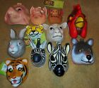 ANIMAL MASKS: PIG, SHEEP, TIGER, WOLF, ZEBRA HALLOWEEN MASKS ADULT,KIDS