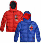 Boys Spiderman Coat Kids Hooded Jacket With Zip Red Blue New Age 3 4 6 8 Years