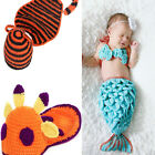 Newborn Girl Boy Baby's Animal Crochet Knit Costume Photography Photo Hat Outfit