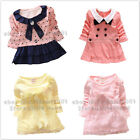 Newborn Girl Baby Dress Bow Party Infant Sundress Princess Skirt Clothes 9M-3Y