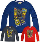 Boys Teenage Mutant Ninja Turtles T Shirt Long Sleeve Kids Top New Age 3-8 Years