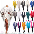 Ladies Womans Oversized Baggy Drape Long Cape Top Batwing Poncho Shawl Kimono