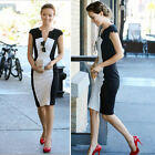 Black & White Fashion Women Wear to work Slim Tunic Party Tea Dresses Midi Dress