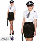 WOMENS CONSTABLE CUTIE COSTUME WITH HAT POLICE FANCY DRESS LADIES HEN WPC LADIES