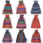 10Pcs 10x14cm Bunt Tribal Tribe Drawstring Jewelry Gift Bags Pouches M3268