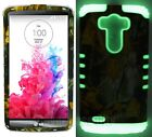 Dry Leaves Camouflage w/ Glow in the Dark Skin Cover Case for LG G3 D850 D855