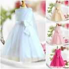 White Christmas Wedding Party Prom Dresss Flower Girls Dresses AGE SIZE 2 to 10Y