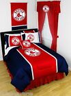 Boston Red Sox Bed in a Bag Drapes Valance Twin Full Queen King Comforter