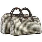 New Classic Plaid Travel Bag Large Capacity Women One Shoulder Duffle Handbags