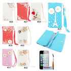 Twinkle Diamonds PU Flip Wallet Card Holder Case Cover For iPhone 4 4S 5 5S 5C