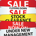 PVC Outdoor Banners Vinyl Latex Printed Sign Display - Sale/ Closing down & More