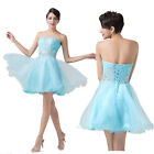 ❤SALABLE❤CHEAP❤Sexy Strapless Knee Length Bridesmaid Wedding Evening Party Dress