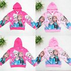 NEW Disney Frozen Princess Elsa Anna Girls Kids Hoodies Coat Jacket Clothes Top