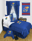 Kansas Jayhawks Comforter and Sheet Set Locker Room
