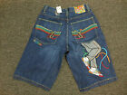 COOGI Men's BLUE Denim Jean Shorts NEW WITH TAGS Sneaker Design $135 RETAIL!