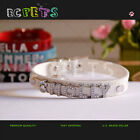 CROC DOG /CAT PET COLLAR PERSONALIZED PU LEATHER WITH FREE RHINESTONE NAME