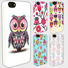 3D CUTE OWL PATTERN Hard Back Phone Case iPhone 4s 5 5S 5C iPod 4th 5th