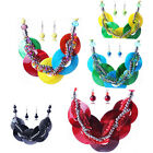 Fashion Necklace&earring Jewelry Sets Shell Pendant Resin Beads Bright Colors