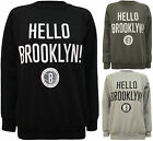 New Womens Hello Brooklyn! Print Long Sleeve Jumper Ladies Top Sweatshirt 8 - 14