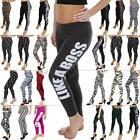 Plain Aztec Work Out Leopard Homies Dope Like A Boss Print Leggings Trousers 8 M