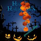 Halloween Spooky 16 LED Pumpkin Eyeball Flashing String Lights Party Festival