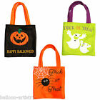Haunted Halloween Spider Pumpkin Ghost Party Trick Or Treat Felt Fabric Tote Bag
