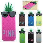 Cartoon Glasses Pineapple Silicone Soft Cover Case For Apple iPhone 4 4S 5 5S