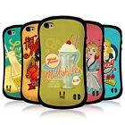 HEAD CASE DESIGNS VINTAGE ADS SERIES 1 HYBRID TPU BACK CASE FOR APPLE iPHONE 4