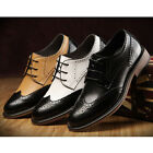 US5-9 Vintage Brogue Leather Casual Lace Up Oxfords Shoes pointed toe mens shoes
