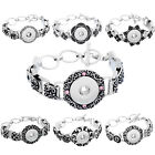 1PC DIY Bracelet Fit Snap Buttons Stereo Pattern Chain 20.5cm