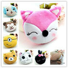 Cute Women carton short plush mini zip coin wallet purse Makeup pouch bag