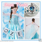 Elsa Anna Princess Queen Garden Birthday Party Costume Dresses SIZE 3 4 5 6 7 8