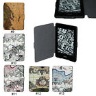 Map PU Leather Folio Case Cover Skin For Amazon Kindle Paperwhite 1 2&3G Wifi