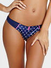 Ann Summers Womens Navy Blue Spot Thong Sexy G-Strings Underwear Lingerie New