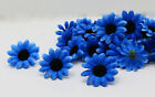 50pcs NEW Black core Gerbera Daisy Heads Artificial Silk Flowers many colors