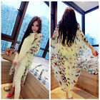 Fashion Butterfly Floral Loose Kimono Coat Jacket Oversize Outerwear Women S/M/L
