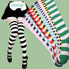Fashion womens Over The Knee Stripy Stripey Socks Sox Thigh High Striped NWW059