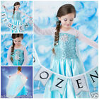 Kids Girls Dresses Elsa School Birthday Party Costume Princess Party Size 3-8Y