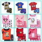 NEW Boys Girls shortsleeved Pyjamas Sleepwear pj's Size1, 2, 3, 4, 5, 6 Gift