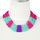 Handmade seed beads necklace multi-layer wide necklace collar choker NL-2040