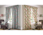 Fully Lined Apsley Floral Curtains - Luxury Vintage Pencil Pleat Curtain Pair